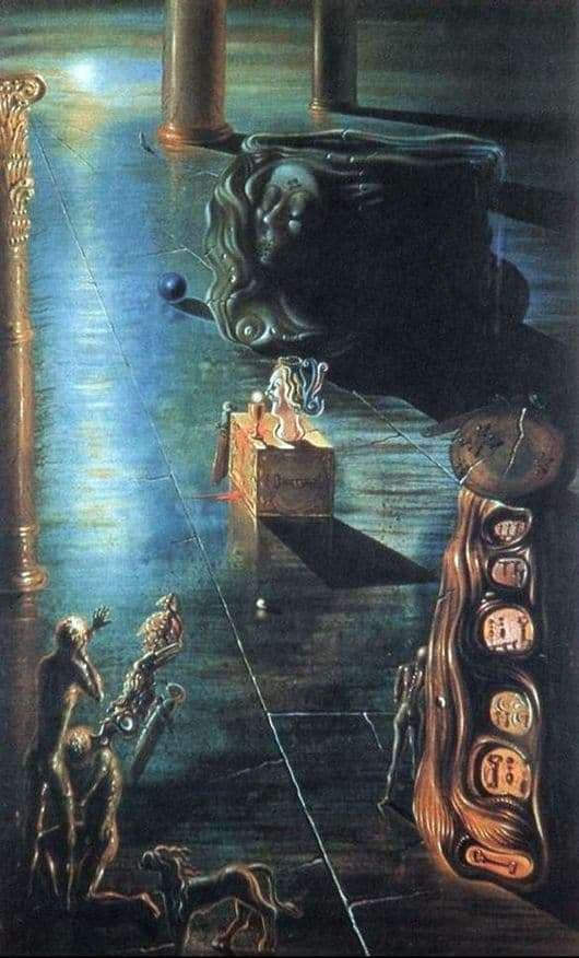 Description of the painting by Salvador Dali Fountain