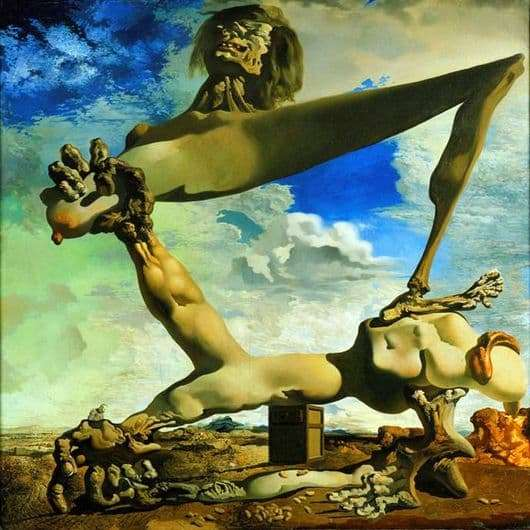 Description of the painting by Salvador Dali A soft composition with boiled beans: a premonition of civil war