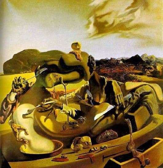 Description of the painting by Salvador Dali Autumn cannibalism