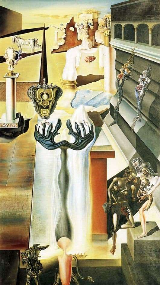 Description of the painting by Salvador Dali Invisible Man