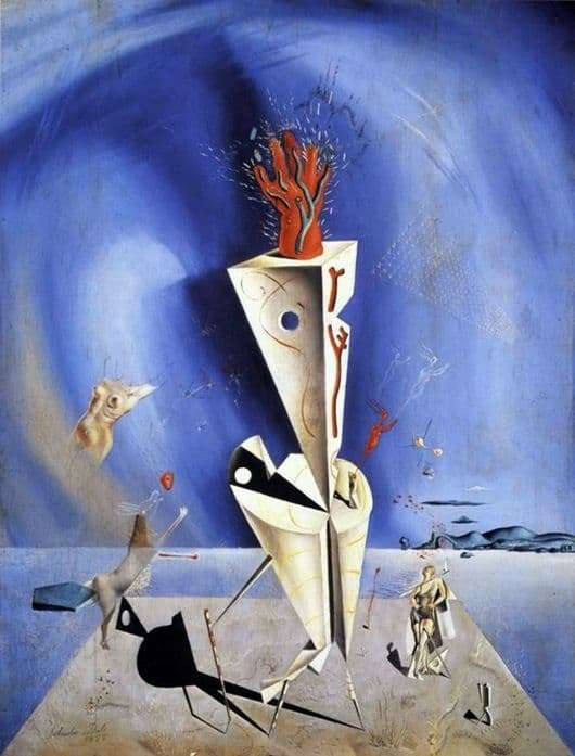 Description of the painting by Salvador Dali The device and the hand