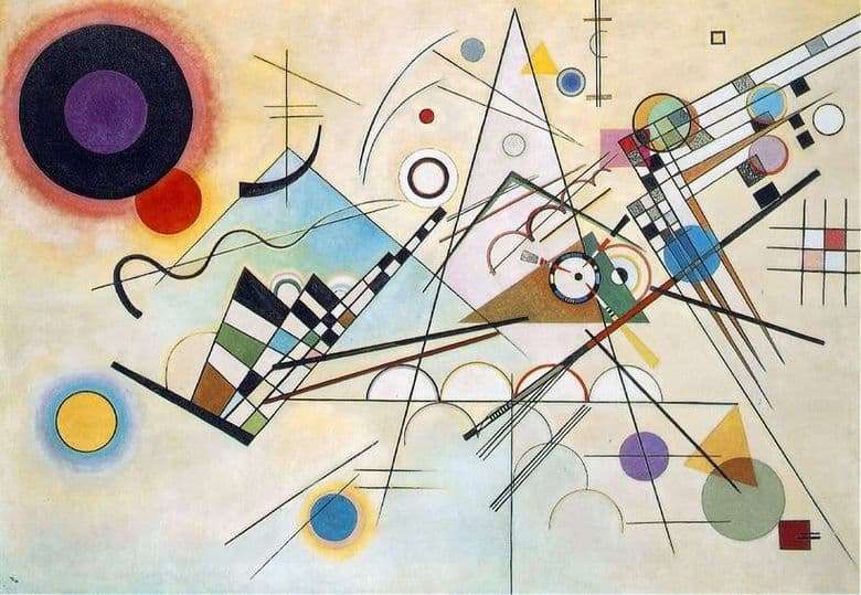 Description of the painting by Wassily Kandinsky Contrast sounds