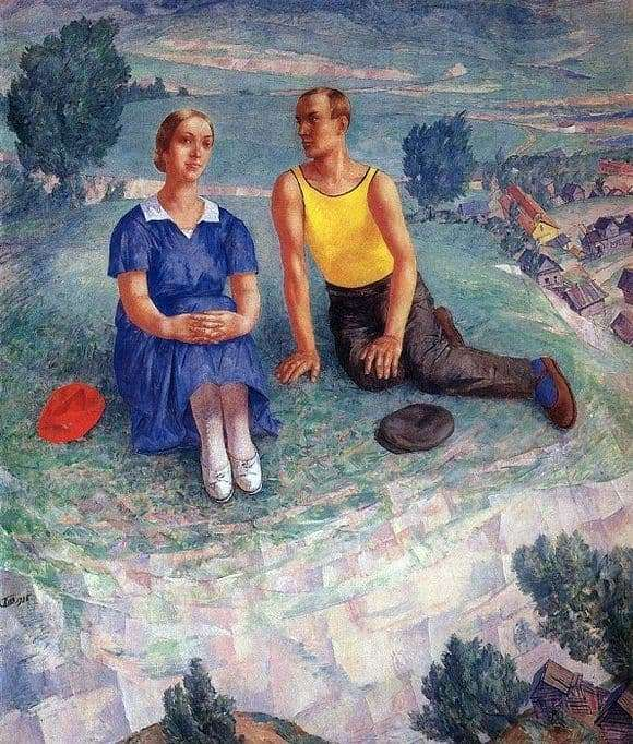 Description paintings Kuzma Petrov Vodkin Spring