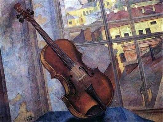 Description of the painting by Kuzma Petrov Vodkin Violin