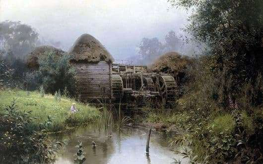 Description of the painting by Vasily Polenova Old Mill