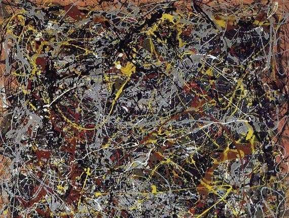 Description of the painting by Paul Jackson Pollock Number 5, 1948