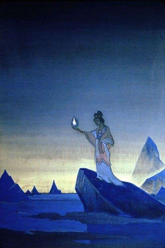 Description of the painting by Nicholas Roerich Agni Yoga