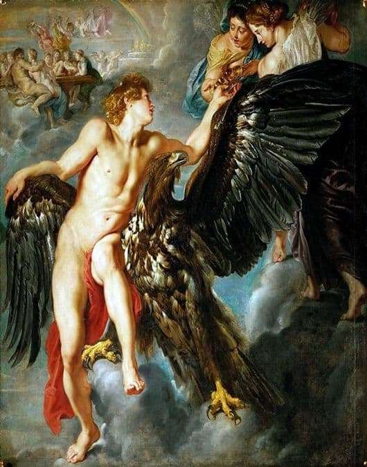 Description of the painting by Peter Rubens The Abduction of Ganymede
