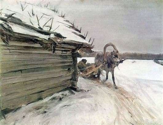 Description of the painting by Valentin Serov Winter