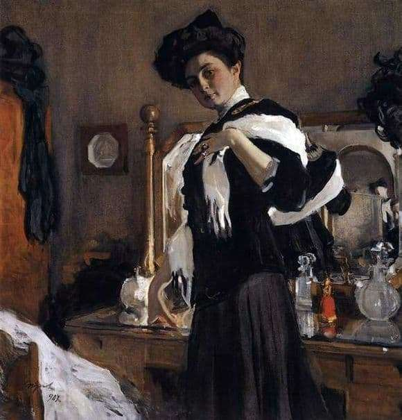 Description of the painting by Valentin Serov Portrait G. L. Hirschman