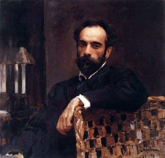 Description of the painting by Valentin Serov Portrait of Levitan