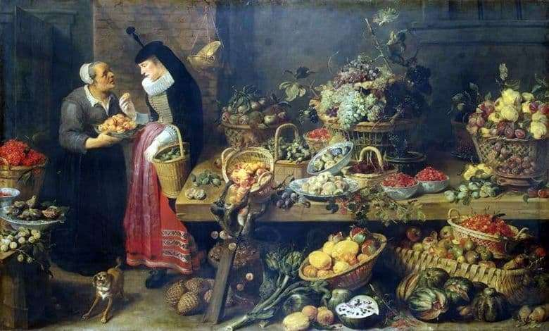 Description of the painting by Frans Snyders Fruit Shop
