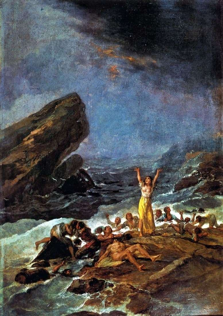 Description of the painting by Francisco de Goya Shipwreck