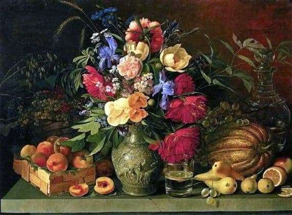 Description of the painting by Ivan Khrutsky Flowers and fruits
