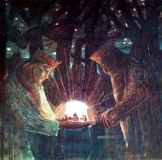 Description of the painting by Mikalojus Čiurlionis The Tale of Kings