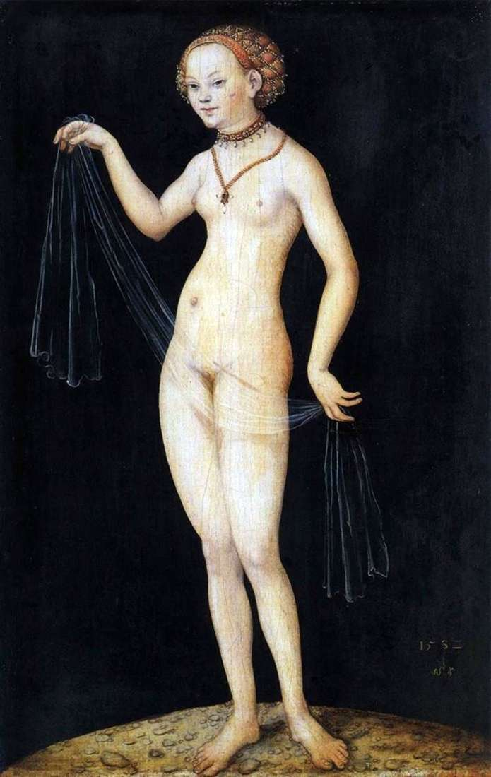 Description of the painting by Lucas Cranach Venus