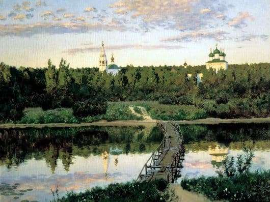 Description of the painting by Isaac Levitan Silent abode