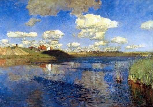 Description of the painting by Isaac Levitan Lake. Rus