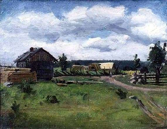 Description of the painting by Isaac Levitan Cloudy Day