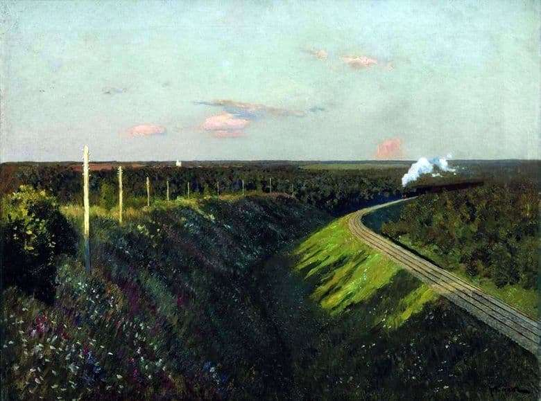 Description of the painting by Isaac Levitan Train on the way