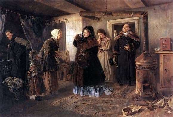 Description of the painting by Konstantin Makovsky Visiting the poor
