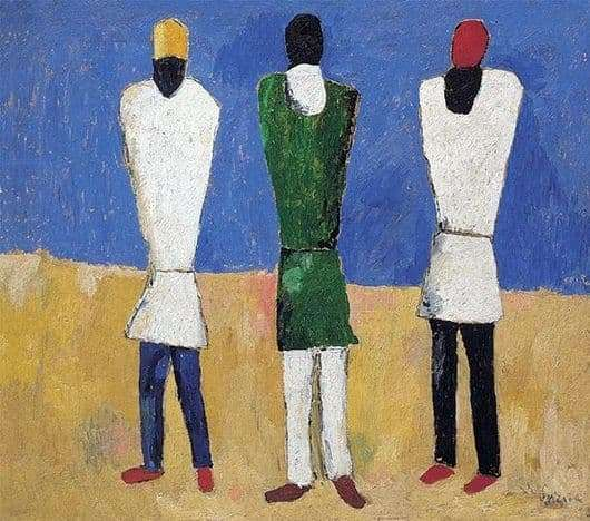 Description of the painting by Kazimir Malevich Peasants