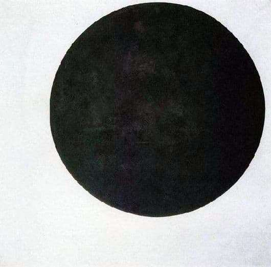 Description of the painting by Kazimir Malevich Black Circle