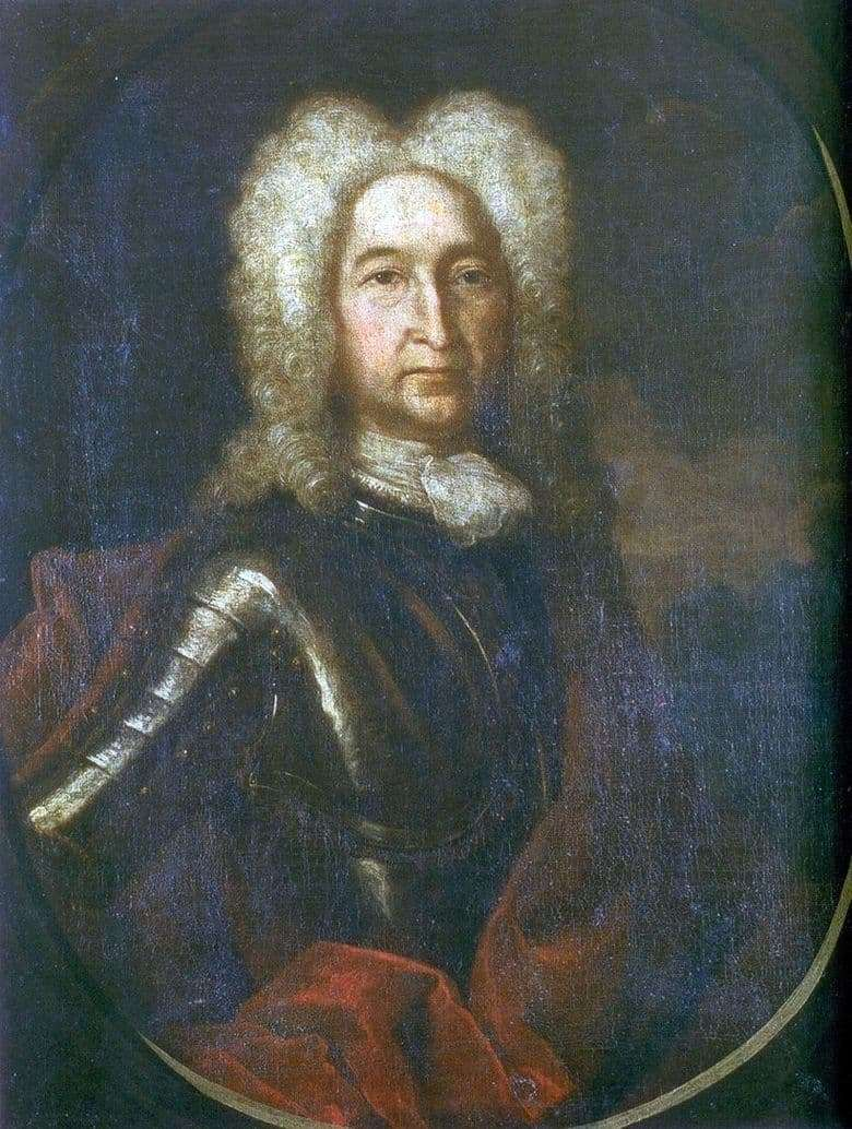 Description of the painting by Andrei Matveyev Portrait of I. A. Golitsyn