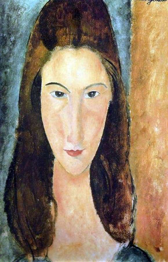 Description of the painting by Amedeo Modigliani Scratch of Jeanne Hebuterne