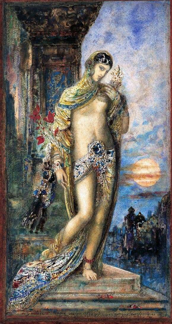Description of the painting by Gustave Moreau Song of Songs