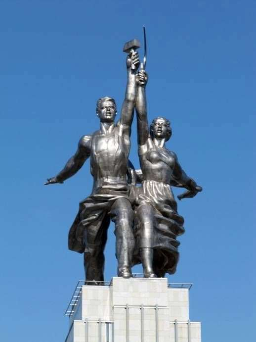 Description of the monument to Vera Mukhina Worker and Collective Farm Woman