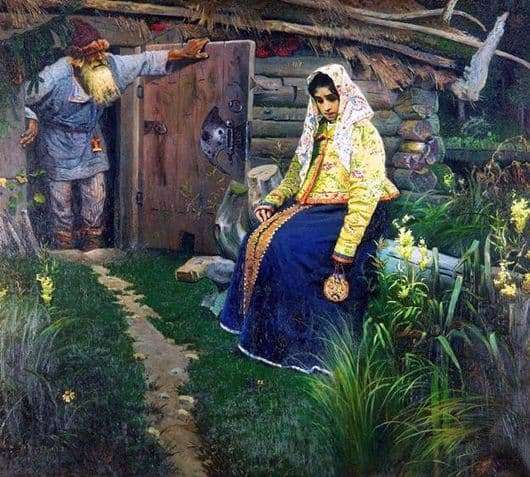 Description of the painting by Mikhail Nesterov For the bewitching potion