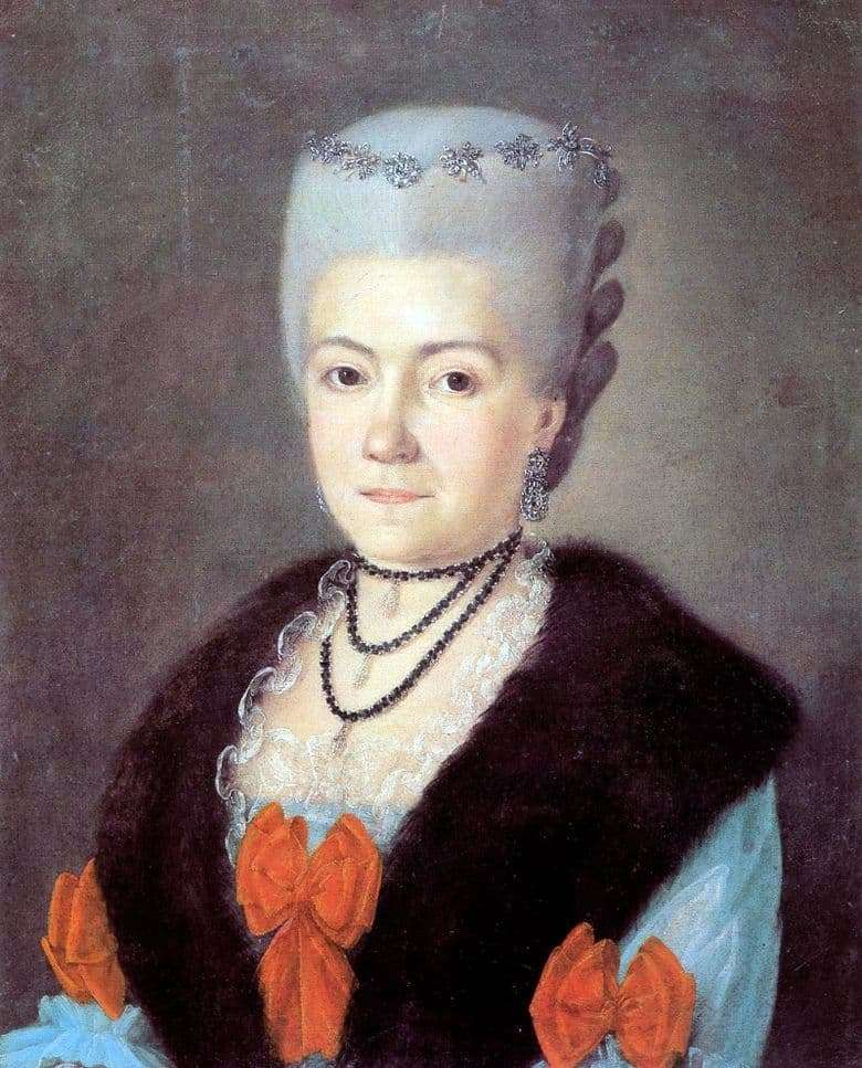Description of the painting by Gregory Ostrovsky Portrait of Cherevina