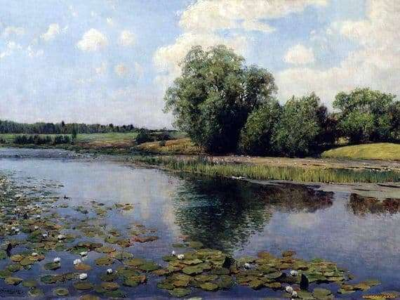 Description of the painting by Ilya Ostroukhov River at Noon