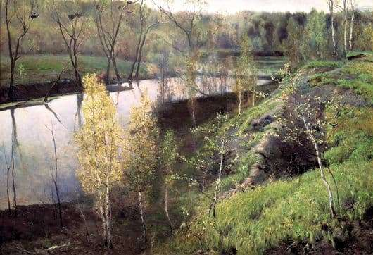 Description of the painting by Ilya Ostroukhova First Green