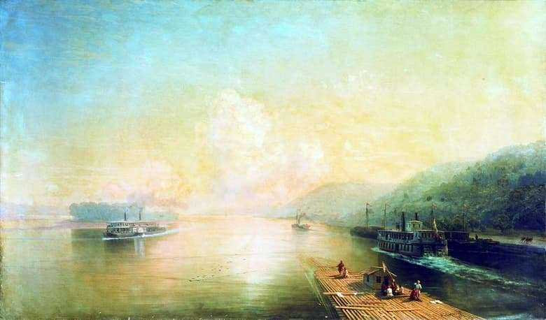 Description of the painting by Ivan Aivazovsky Volga near the Zhiguli Mountains