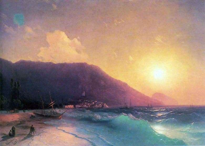 Description of the painting by Ivan Aivazovsky Sea View