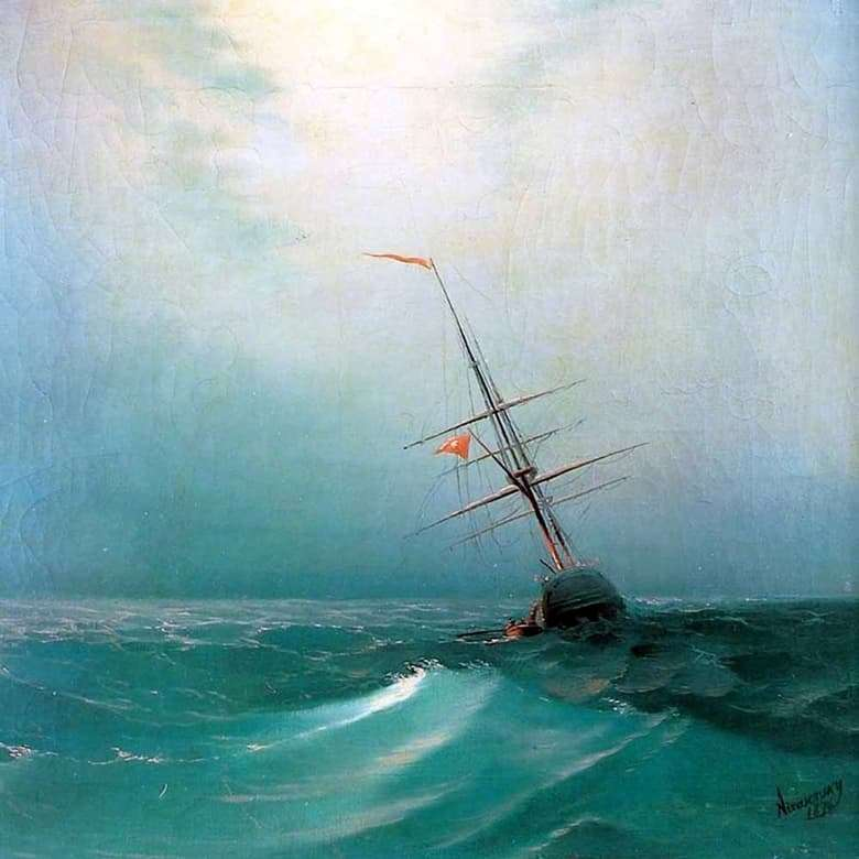 Description of the painting by Ivan Aivazovsky Night. Blue Wave