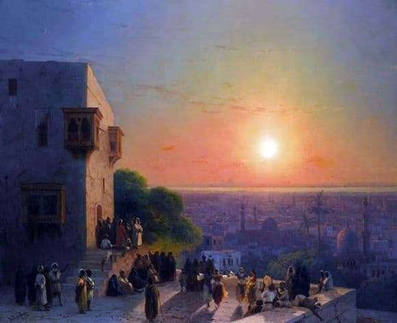 Description of the painting by Ivan Aivazovsky In Cairo