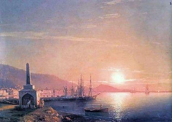 Description of the painting by Ivan Aivazovsky Sunrise in Feodosia