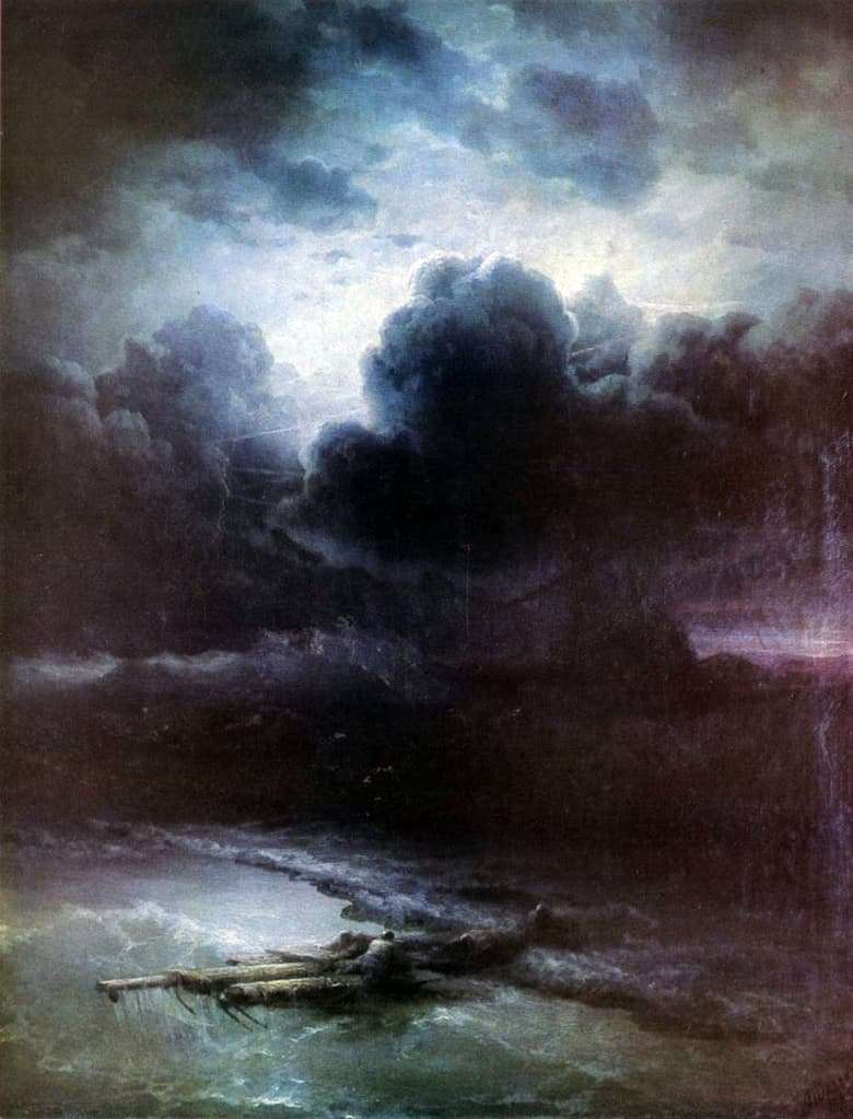 Description of the painting by Ivan Aivazovsky Thunderstorm