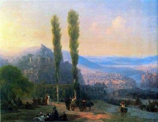 Description of the painting by Ivan Aivazovsky View of Tiflis