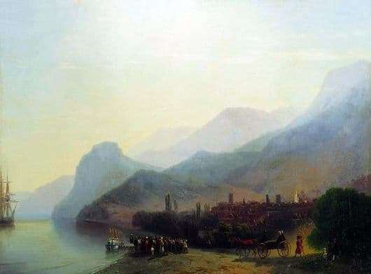 Description of the painting by Ivan Aivazovsky Alushta