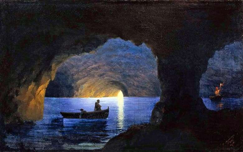 Description of the painting by Ivan Aivazovsky Azure Grotto. Naples