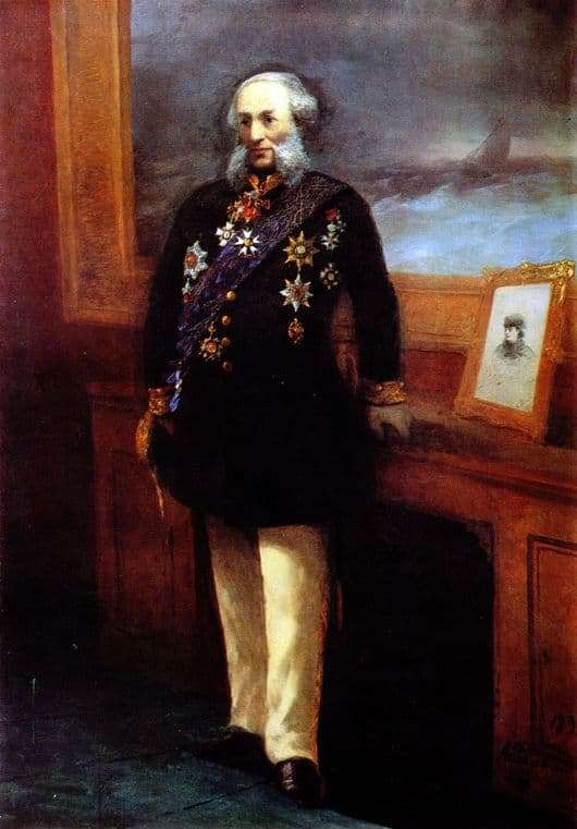 Description of paintings by Ivan Aivazovsky Self portrait (1892 and 1838)