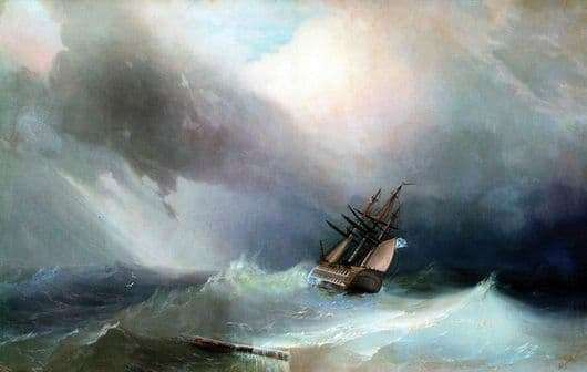 Description of the painting by Ivan Aivazovsky The Tempest