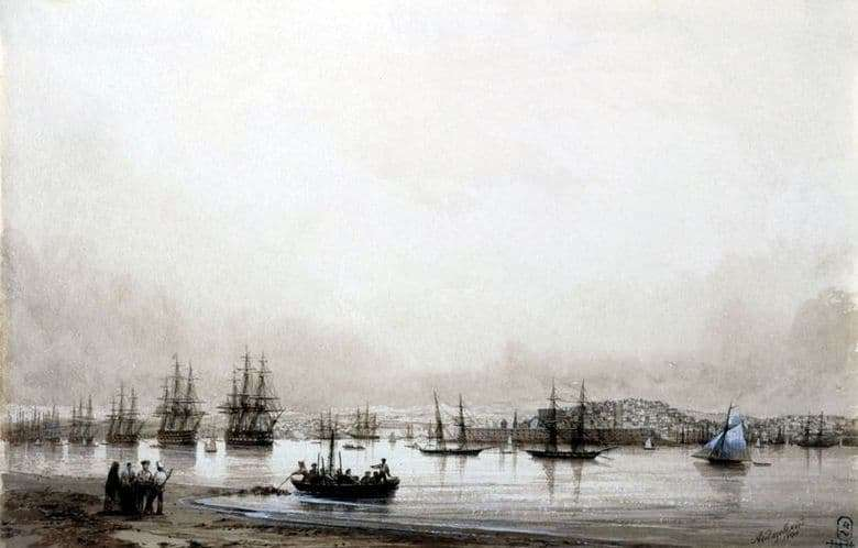 Description of the painting by Ivan Aivazovsky Sevastopol