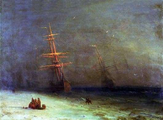 Description of the painting by Ivan Aivazovsky Storm on the North Sea