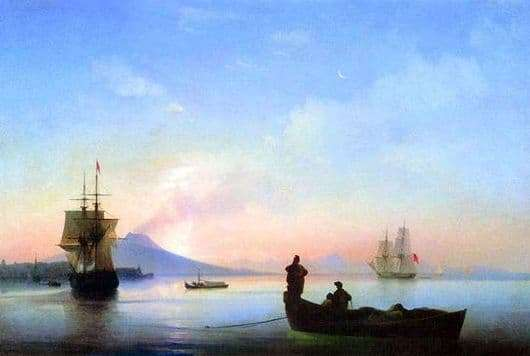 Description of the painting by Ivan Aivazovsky Gulf of Naples in the morning