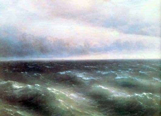 Description of the painting by Ivan Aivazovsky Black Sea